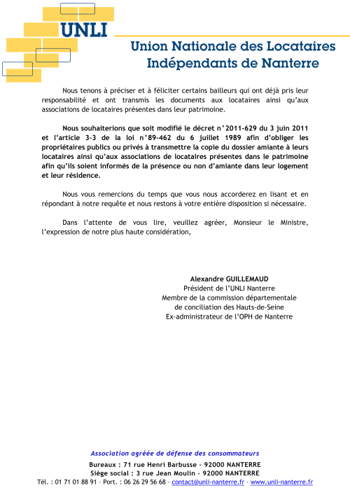 diagnostic amiante decret 3 juin 2011