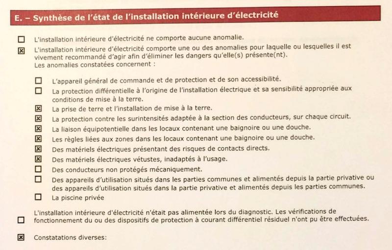 diagnostic electrique e